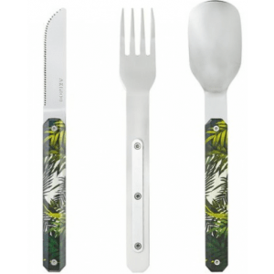 magnetic cutlery with jungle print