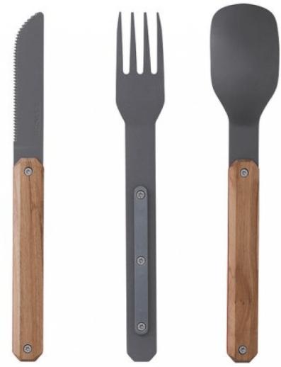 brown magnetic cutlery