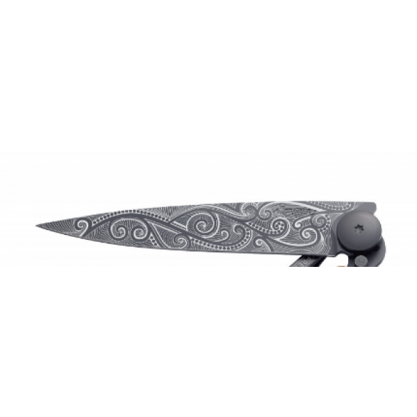 foldiing knife with pacific key print