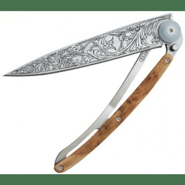 folding knife with art nouveau print