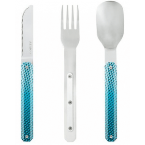 blue mosaic magnetic cutlery