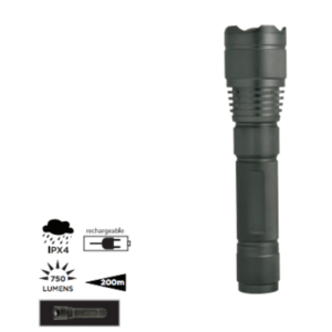 black rechargeable torch