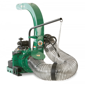 green debris loader with heavy duty hose