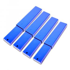 four blue extension arm kits