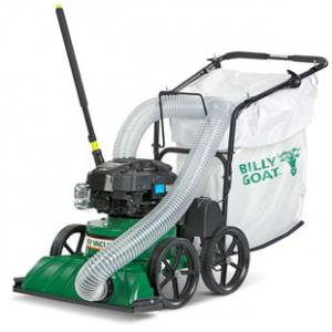 green leaf and litter vacuum