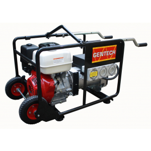 two wheels with handles powered generator